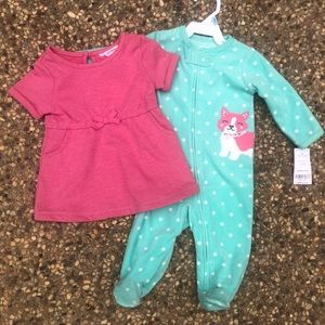 🆕 Girl bundle of 2, size 6 months 🆕